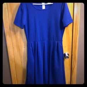 NWOT 2XL LuLaRoe blue rose Amelia dress